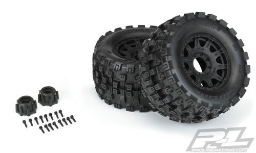 "Pro-Line 10166-10 Badlands MX38 HP Belted 3.8"" Pre-Mounted Truck Tires (2) (Black) (M2)"