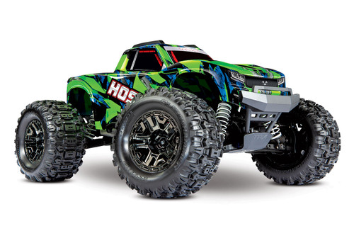 Traxxas Hoss 4X4 VXL 1/10 Scale Monster Truck W/ TQi Traxxas Link Enabled 2.4Ghz Radio System & TSM (Green)