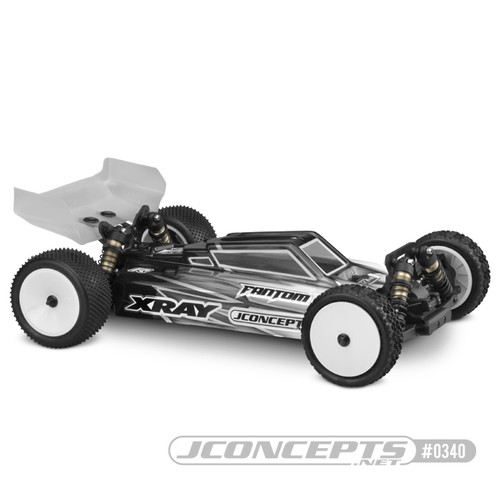 "JConcepts XRAY XB4 ""S2"" Body w/Aero Wing (Clear) (Light Weight)"
