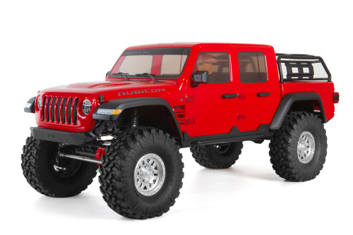 "Axial SCX10 III ""Jeep JT Gladiator"" RTR 4WD Rock Crawler (Red) w/ Portals & DX3 2.4GHz Radio"