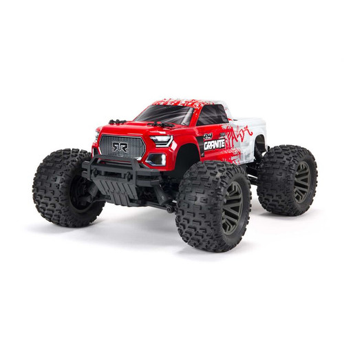 Arrma Granite 4X4 V3 3S BLX 1/10 RTR Brushless 4WD Monster Truck (Red) w/ Spektrum SLT3 2.4GHz Radio