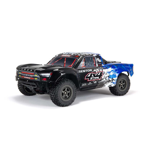 Arrma Senton 4X4 V3 3S BLX 1/10 RTR Brushless Short Course Truck (Blue) w/Spektrum SLT3 2.4GHz Radio