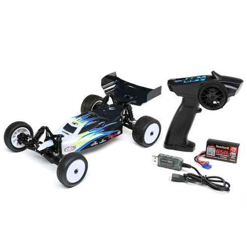 Losi Mini-B 1/16 RTR 2WD Buggy (Black) w/2.4GHz Radio, Battery & Charger