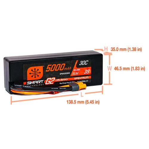 Spektrum 5000mAh 3S 11.1V Smart Battery G2 30C IC3