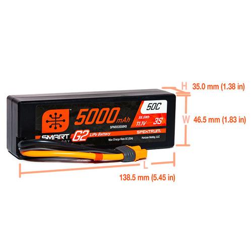 Spektrum 5000mAh 3S 11.1V Smart Battery G2 50C IC3