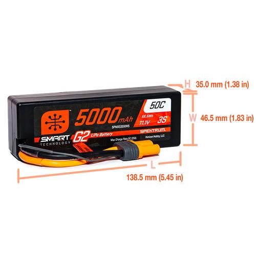 Spektrum 5000mAh 3S 11.1V Smart Battery G2 50C IC5
