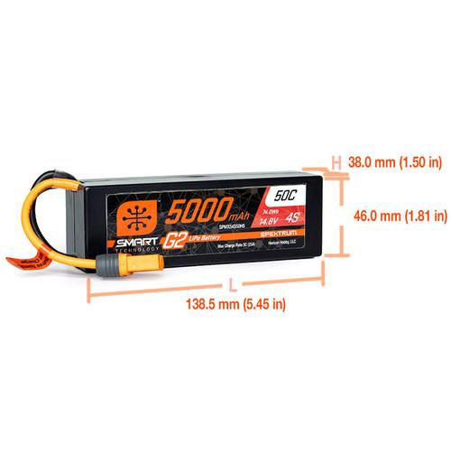 Spektrum 5000mAh 4S 14.8V Smart Battery G2 50C IC5