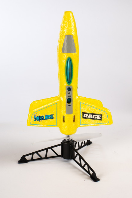 Rage RC Spinner Missile Yellow Electric Free-Flight Rocket