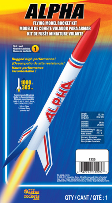 Estes Alpha Rocket Kit, Skill Level 1