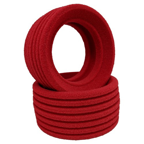DE Racing DER-PBR-C1 Phenom Late Model Dirt Oval Rear Tires w/Red Insert (2) (Clay)
