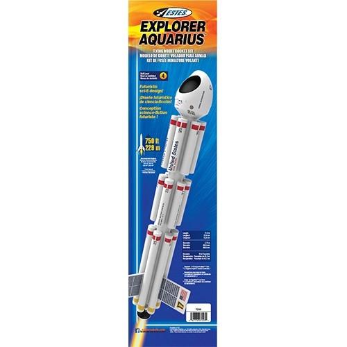 Estes Explorer Aquarius Model Rocket Kit, Skill Level 4