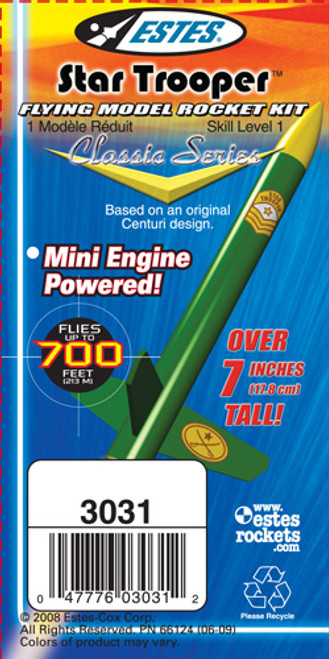 Estes Star Trooper Model Rocket Kit, Skill Level 1