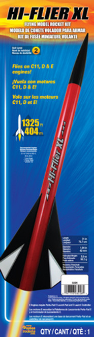 Estes Hi-Flier XL Model Rocket Kit, Skill Level 2