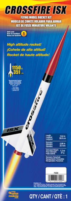 Estes Crossfire ISX Model Rocket Kit, Skill Level 1