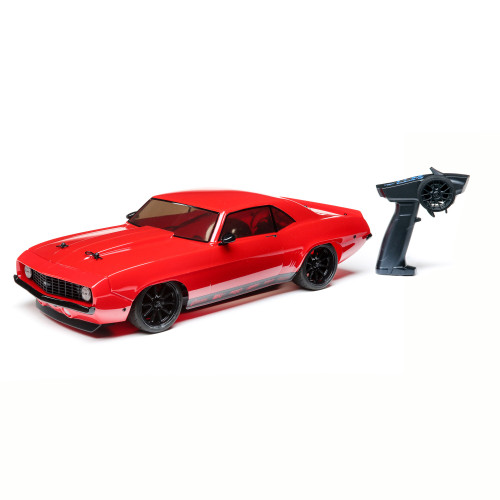 Losi 1/10 1969 Chevy Camaro V100 AWD Brushed RTR, Red