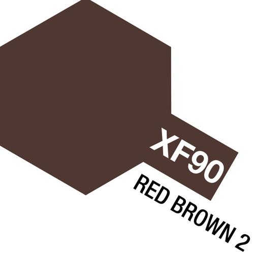 Tamiya Acrylic Mini XF90 Red Brown Paint, 10ml