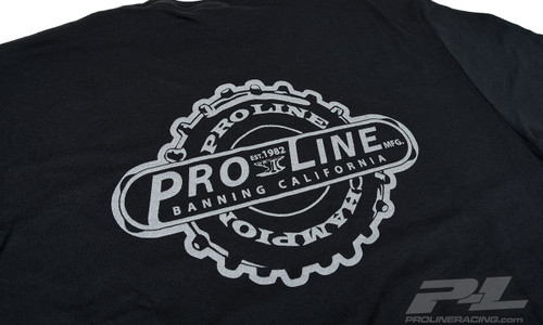 Pro-Line Manufactured Black T-Shirt, Large