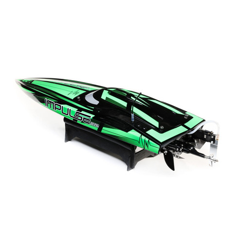 "Pro Boat Impulse 32"" Deep-V RTR Brushless Boat (Black/Green) w/2.4GHz Radio & SMART"