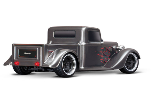 Traxxas 4-Tec 3.0 1/10 RTR Touring Car w/Factory Five '35 Hot Rod Truck Body (Silver) & TQ 2.4GHz Radio System