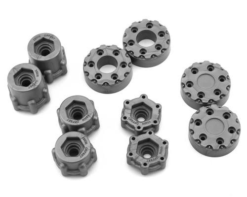 "JConcepts Krimson Dually 2.6"" Dual Truck Wheels w/Adaptors & Covers (Gray/Silver) (2)"