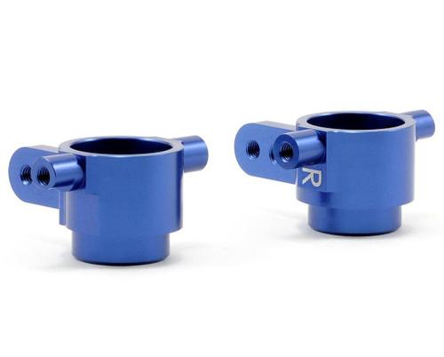 ST Racing Aluminum Front Steering Knuckles (Blue) (Slash 4x4)