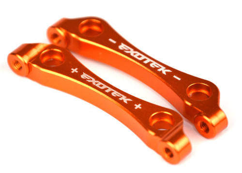 Exotek Racing 1486 D413 Aluminum Steering Rack (Orange)