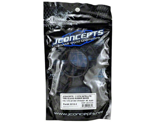 "JConcepts 22122 ""Satellite"" Tire Glue Bands (Black)"