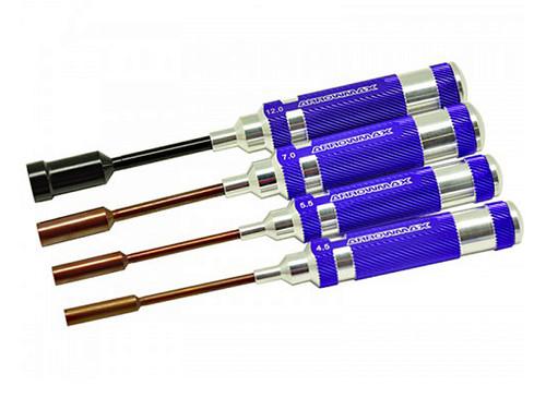 ArrowMax Nut Driver Set 4.5, 5.5, 7.0 & 12.0 x 100mm - 4pcs