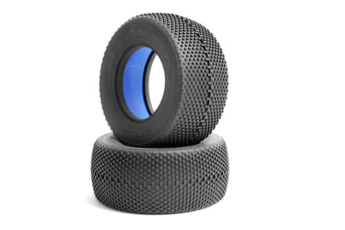 JConcepts 3043-02 Double Dee's Short Course Tires (Super Soft) Green (2)
