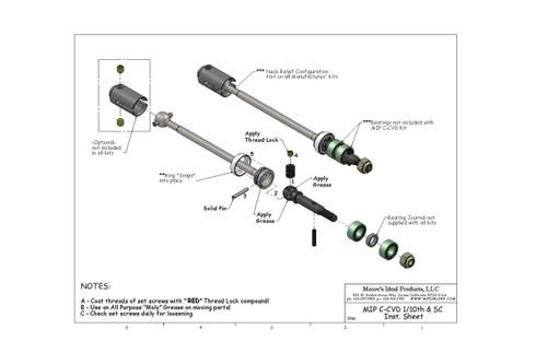 MIP 13270 Race Duty Steel CVD (Rear) (Traxxas Slash 4x4