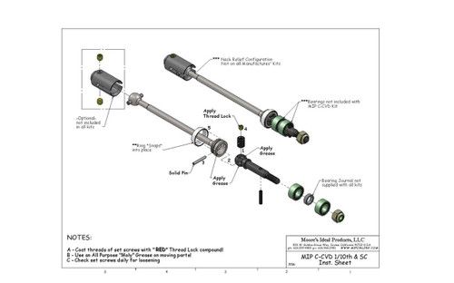 MIP 08123 C-CVD Axle Kit (Traxxas Elec. Rustler, Elec. Stampede) (2)