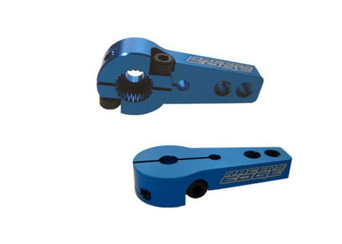 Racers Edge 10384B Aluminum Pro Adjustable Single Arm Hitec (24 Spline) Servo Horn (Blue)