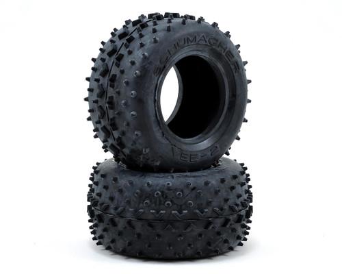 """Schumacher Racing """"Vee 2"""" 2.2 1/10 Truck Rear Tires (2) (Yellow)"""