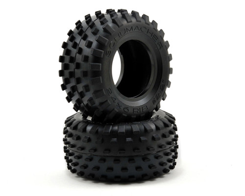 """Schumacher Racing """"Stagger Rib"""" 2.2 1/10 Truck Front Tires (2) (Yellow)"""