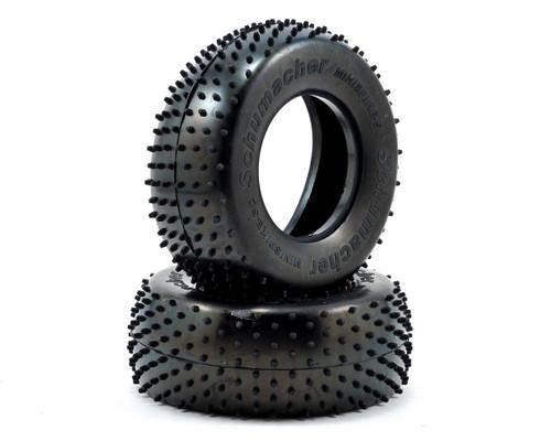 "Schumacher Racing ""Mini Spike"" Short Course Tires (2) (Yellow)"