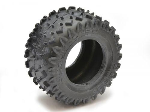 """Schumacher Racing U6796 """"Vee 4"""" 2.2 1/10 Truck Rear Tires (2) (Yellow)"""
