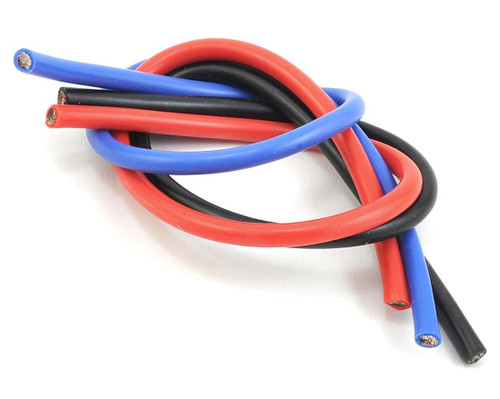 TQ Wire 10 Gauge Wire Kit 1' Black, Red, and Blue TQ1103