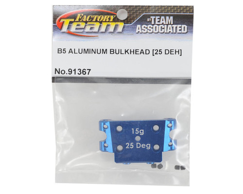 Team Associated 91367 Factory Team 25 Degree Aluminum Bulkhead