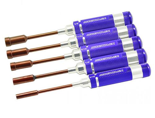 ArrowMax Nut Driver Set 3/16, 1/4, 5/16, 11/32, 3/8 x  100mm
