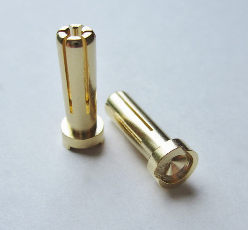 "TQ Wire 2507 5mm ""Low Profile"" Male Bullet Connector (Gold) (2)"