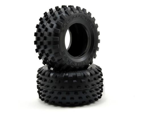 "Schumacher Racing U6525 ""Stagger Rib"" 2.2 1/10 Truck Front Tires (2) (Blue)"