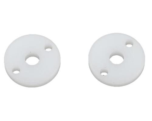 "Yokomo ""X"" Shock Piston (White) (2) (2 Hole/1.7mm)"