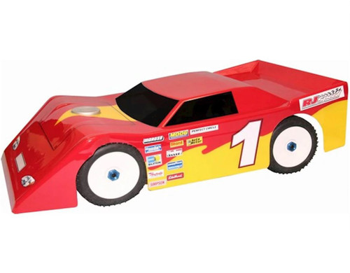 RJ Speed  1015 1/8 Max Wedge Dirt Oval Clear Body