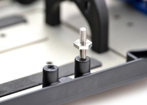 Exotek 1710 Titanium Battery Tray Screws, 1 Pair B6/B6D