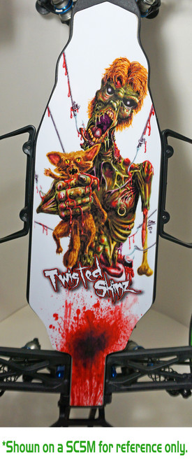 """Twisted Skinz (TLR 22 2.0) """"Hooked"""" 9 mil Chassis Protector"""