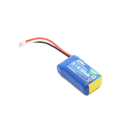 E-flite 280mAh 2S 7.4V 30C LiPo Battery Pack