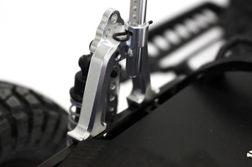 Racers Edge 1832BK SCX10 Aluminum Rear Shock Tower Hoops, Black