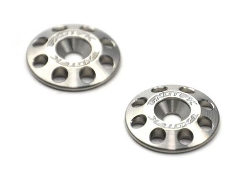 Exotek Racing 1667 Flite 16mm Titanium Wing Buttons (2)
