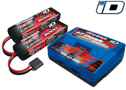 "Traxxas 2990 EZ-Peak 3S ""Completer Pack"" Dual Multi-Chemistry Battery Charger w/Two Power Cell Batteries"