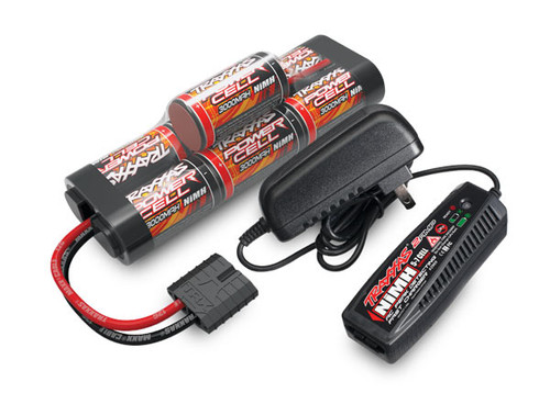 Traxxas 2984 Battery/Charger Completer Pack, 2-Amp AC Charger, 7-Cell NiMH Hump Pack